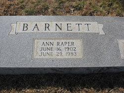 Ann <i>Raper</i> Barnett