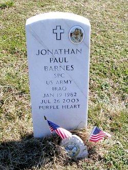 Spec Jonathan Paul Barnes