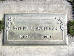 Esther L. Ackerman