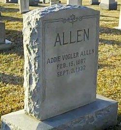 Addie May <i>Vogler</i> Allen
