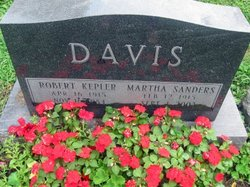 Martha Ann <i>Sanders</i> Davis