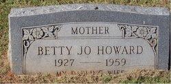 Betty Jo <i>Spangler</i> Howard