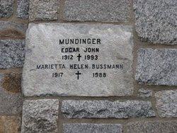Rev Edgar John Mundinger