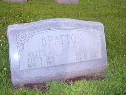 Mattie Alice <i>Matthews</i> Bratton