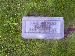 Birdie Jane <i>Matthews</i> Farrell