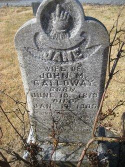 Jane A. <i>Glazener</i> Galloway
