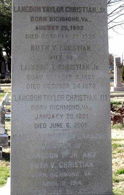 Langdon Taylor Christian, Jr