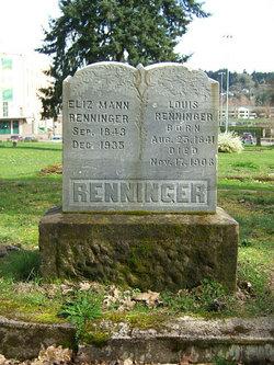 Elizabeth <i>Mann</i> Renninger