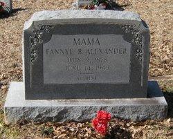 Frances Penelope Fannye <i>Bennett</i> Alexander