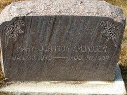 Mary <i>Johnson</i> Amundsen