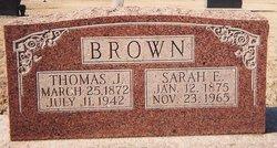 Sarah Ellen Sally <i>Havins</i> Brown
