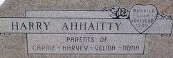 Harry Ahhaitty