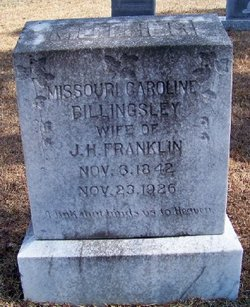 Missouri Caroline <i>Billingsley</i> Franklin
