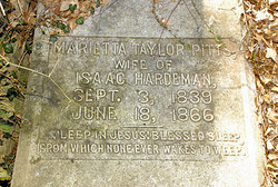 Marietta Taylor <i>Pitts</i> Hardeman
