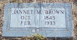 Jannet M. Brown