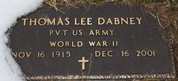 Pvt Thomas Lee Dabney