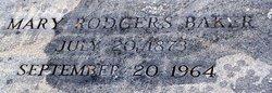 Mary <i>Rodgers</i> Baker