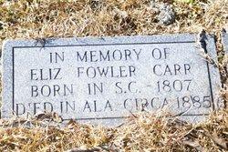 Elizabeth <i>Fowler</i> Carr