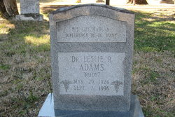 Dr Leslie R Rudy Adams
