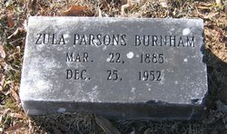 Zula <i>Parsons</i> Burnham
