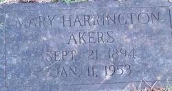 Mrs Mary <i>Harrington</i> Akers