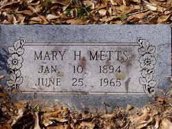 Mary Ann <i>Harris</i> Metts