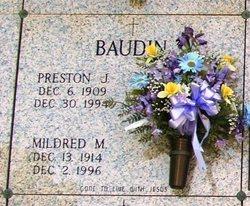 Preston J Baudin