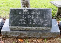 Willa <i>Sharp</i> Bennett