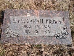 Effie Sarah Brown