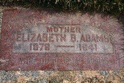 Elizabeth Belle <i>Evans</i> Adams
