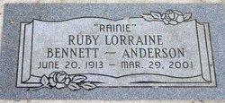 Ruby Lorrain <i>Bennett</i> Anderson
