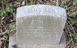 Lucy A <i>Mosby</i> Caldwell