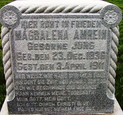 Magdalena <i>Jung</i> Amrein