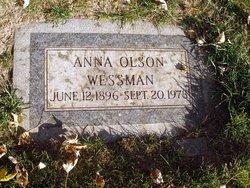 Anna <i>Olson</i> Wessman