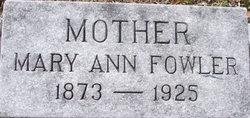 Mary Ann Mollie <i>Culbertson</i> Fowler