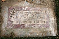Hortense Metta <i>Hanson</i> Evans