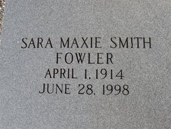 Sara Maxie <i>Smith</i> Fowler