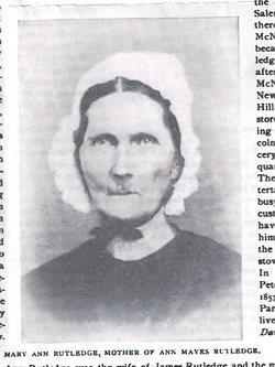 Mary Ann <i>Miller</i> Rutledge