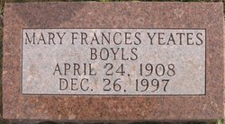 Mary Frances <i>Yeates</i> Boyls