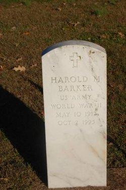 Harold M Barker