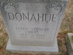 Letha Jane <i>Spencer</i> Cripps Donahue