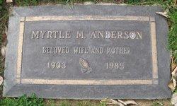 Myrtle M <i>Christensen</i> Anderson