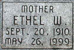 Ethel Ann <i>Whitesides</i> Adams