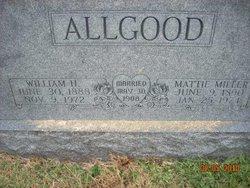 Mattie <i>Miller</i> Allgood