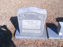 Annie V <i>Patterson</i> Ward