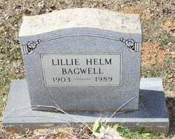 Lillie <i>Helm</i> Bagwell