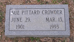 Sue Jones <i>Pittard</i> Crowder