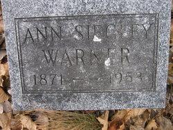 Ann Mariah <i>Siegley</i> Warner