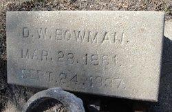 D. W. Bowman