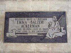 Emma <i>Balzer</i> Ackerman